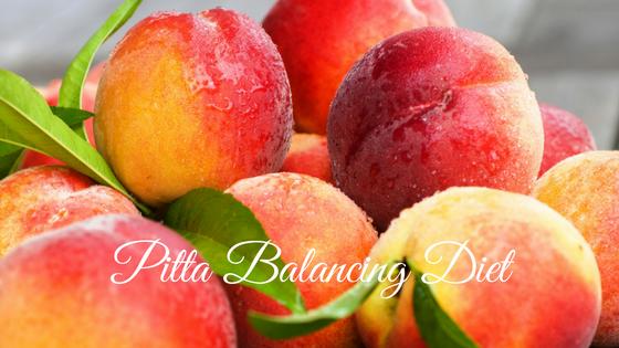 Fresh peaches for a pitta balancing diet.
