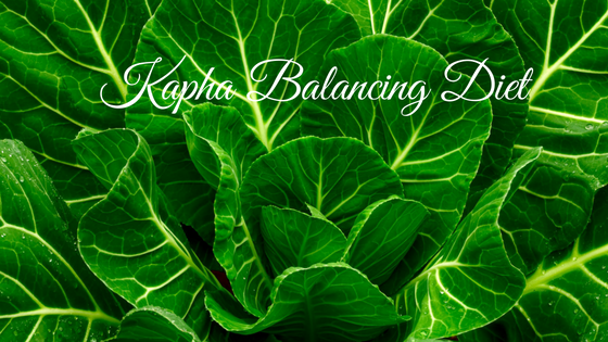 Fresh greens for a kapha balancing diet.